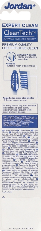 "Periuță de dinți ""Expert Clean"", moale, gri + negru - Jordan Tandenborstel Expert Clean Soft — Imagine N2"