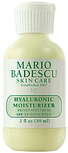 Parfumuri și produse cosmetice Cremă hidratantă cu acid hialuronic pentru față - Mario Badescu Hyaluronic Moisturizer SPF15