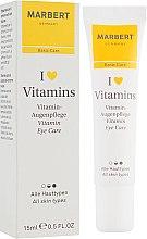 Parfumuri și produse cosmetice Cremă pentru zona din jurul ochilor - Marbert I love Vitamins Eye Care