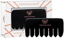 Parfumuri și produse cosmetice Pieptene din obsidian pentru masajul scalpului - Crystallove