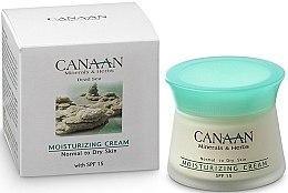 Parfumuri și produse cosmetice Cremă hidratantă cu SPF-15 pentru ten normal și uscat - Canaan Minerals & Herbs Moisturizing Cream with SPF 15 Normal to Dry Skin