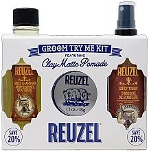Parfumuri și produse cosmetice Set - Reuzel Clay Matte Try Me Kit (h/pomade/35g + h/tonic/100ml + shm/100ml)