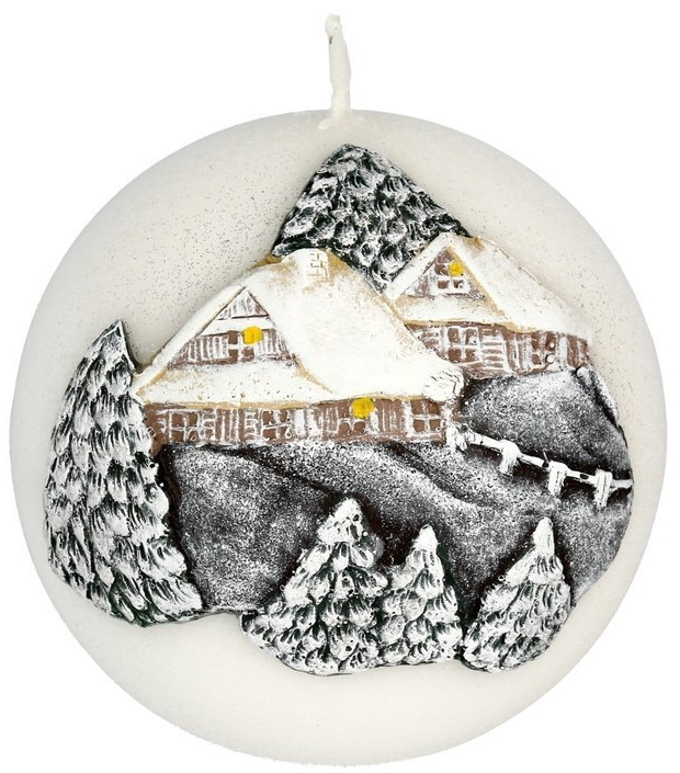 Lumânare aromată, 10 cm - Artman Christmas House Candle Ball — Imagine N1