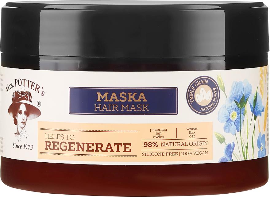 Mască pentru păr deteriorat - Mrs. Potter's Triple Grain Regenerate
