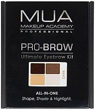 Parfumuri și produse cosmetice Set pentru corecția sprâncenelor - MUA Pro-Brow Ultimate Eye Brow Kit