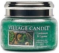 Parfumuri și produse cosmetice Lumânare parfumată, în borcan - Village Candle Cardamom & Cypress