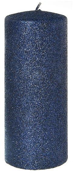 Lumânare decorativă, albastră, 7x18 cm - Artman Glamour — Imagine N1