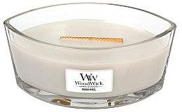 Lumânare parfumată în suport de sticlă - WoodWick Hearthwick Flame Ellipse Candle Warm Wool — Imagine N1