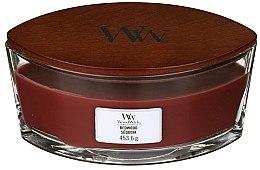 Lumânare aromată în suport de sticlă - Woodwick Hearthwick Flame Ellipse Candle Redwood — Imagine N2