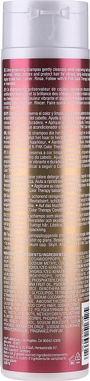 Șampon restaurativ pentru păr vopsit - Joico K-Pak Color Therapy Shampoo — Imagine N4