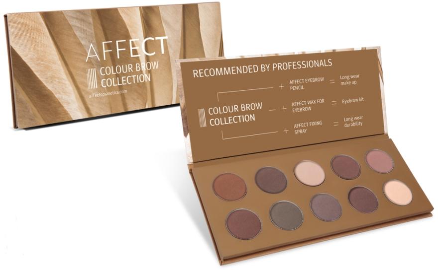 Paletă farduri pentru sprâncene - Affect Cosmetics Color Brow Collection — Imagine N1