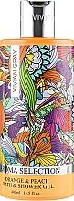 """Parfumuri și produse cosmetice Gel de duș """"Portocală și piersic"""" - Vivian Gray Aroma Selection Orange & Peach Bath & Shower Gel"""