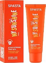 """Parfumuri și produse cosmetice Pastă naturală de dinți pentru copii """"Prevenirea cariilor și întărirea smalțului"""" - Spasta My Sunshine"""