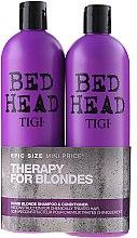 Parfumuri și produse cosmetice Set - Tigi Bed Head Dumb Blonde (shm/750ml + cond/750ml)