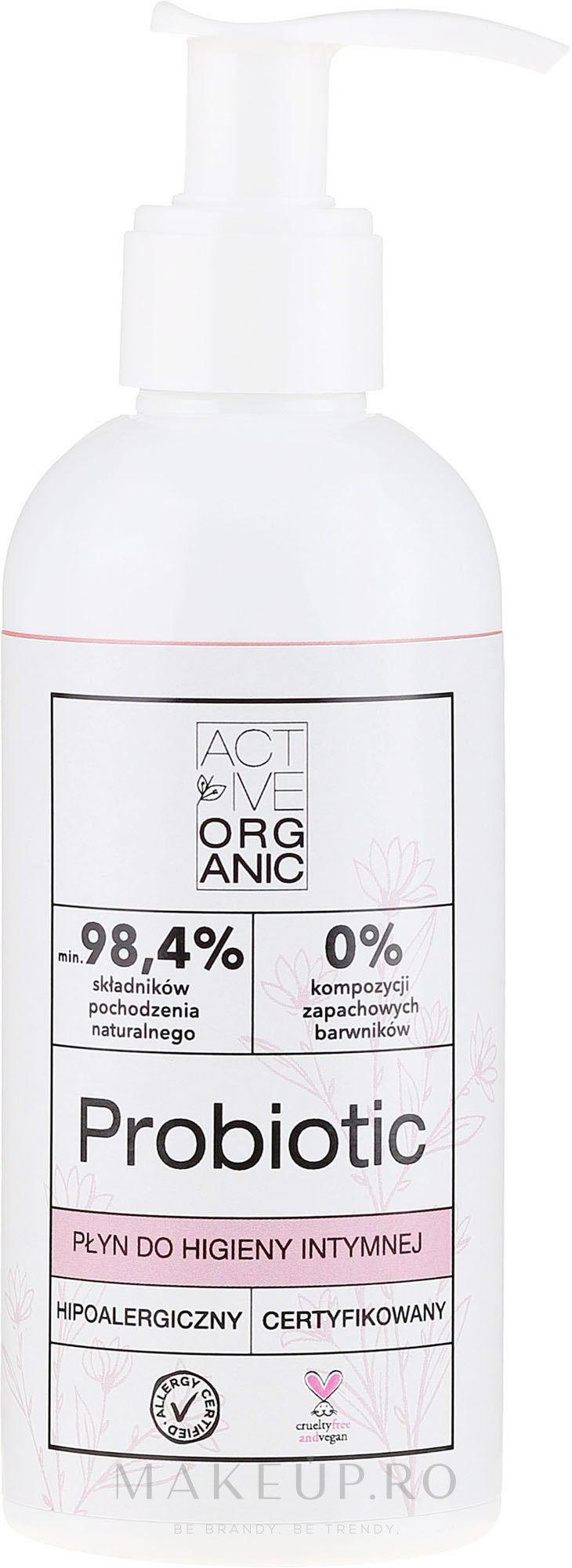 Gel pentru igiena intimă - Active Organic Probiotic — Imagine 200 ml