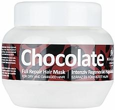 Parfumuri și produse cosmetice Mască pentru păr deteriorat și uscat - Kallos Cosmetics Chocolate Mask