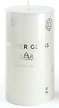 Parfumuri și produse cosmetice Lumânare aromatică, albă, 7x19cm - Artman Winter Glass