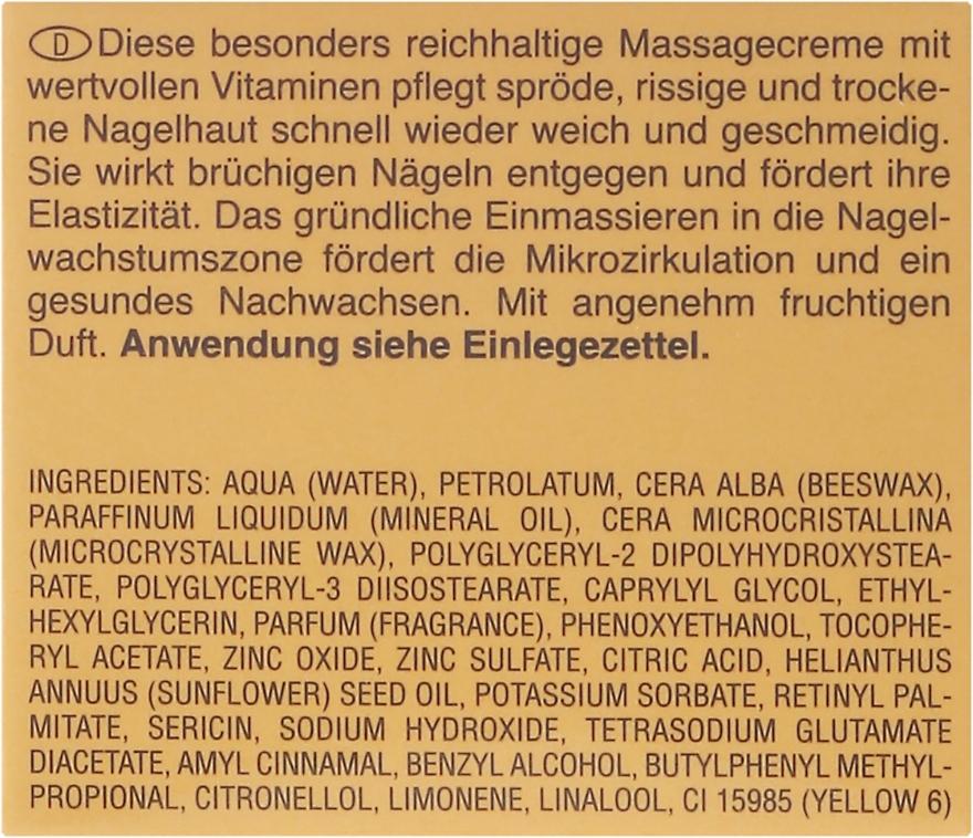 Cremă pentru cuticule - Artdeco Nail Massage Cream — Imagine N3