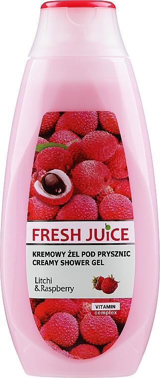 """Cremă gel de duș """"Litchi și zmeură"""" - Fresh Juice Creamy Shower Gel Litchi & Raspberry"""