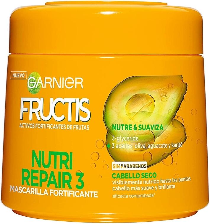 Mască pentru fermitatea părului - Garnier Fructis Nutri Repair 3 — Imagine N1