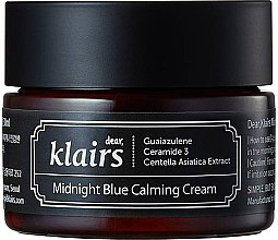 Parfumuri și produse cosmetice Cremă de față cu efect hidratant și relaxant - Klairs Midnight Blue Calming Cream
