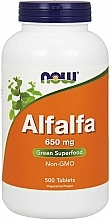 "Parfumuri și produse cosmetice Supliment alimentar ""Alfalfa"", 650 mg - Now Foods Alfalfa"