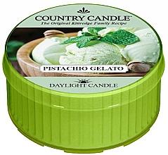 """Parfumuri și produse cosmetice Lumânare de ceai """"Înghețată cu fistic"""" - Country Candle Pistachio Gelato Daylight"""