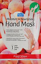 Parfumuri și produse cosmetice Mască hidratantă pe bază de piersici pentru mâini - Purederm Moisture & Nourishing Hand Mask