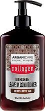 Parfumuri și produse cosmetice Balsam fără clătire pentru păr uscat și despicat - Arganicare Collagen Nourishing Leave-In Conditioner