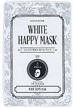 Parfumuri și produse cosmetice Mască de țesut pentru față - Kocostar White Happy Mask