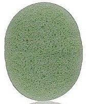 """Burete pentru curățarea feței, ovală """"Aloe"""" - Bebevisa Konjac Sponge — Imagine N1"""