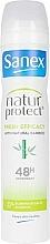 Parfumuri și produse cosmetice Deodorant-antiperspirant cu extract de bambus - Sanex Natur Protect 0% Fresh Bamboo Deo Vapo