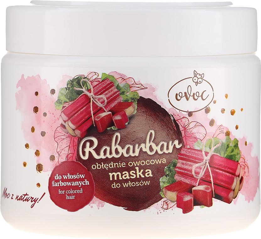 Mască cu extract de rubarbă, fructe și unt de Shea pentru păr - Ovoc Rabarbar Mask