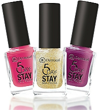 Parfumuri și produse cosmetice Lac de unghii - Dermacol 5 Days Stay Longlasting Nail Polish