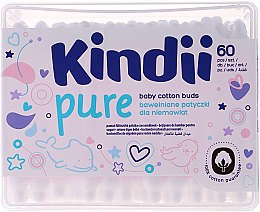 """Parfumuri și produse cosmetice Bețișoare de urechi pentru copii """"Kindi"""", 60pcs - Cleanic Kids Care Cotton Buds"""
