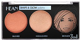 Parfumuri și produse cosmetice Paletă pentru machiaj - Hean Shape & Glow Palette