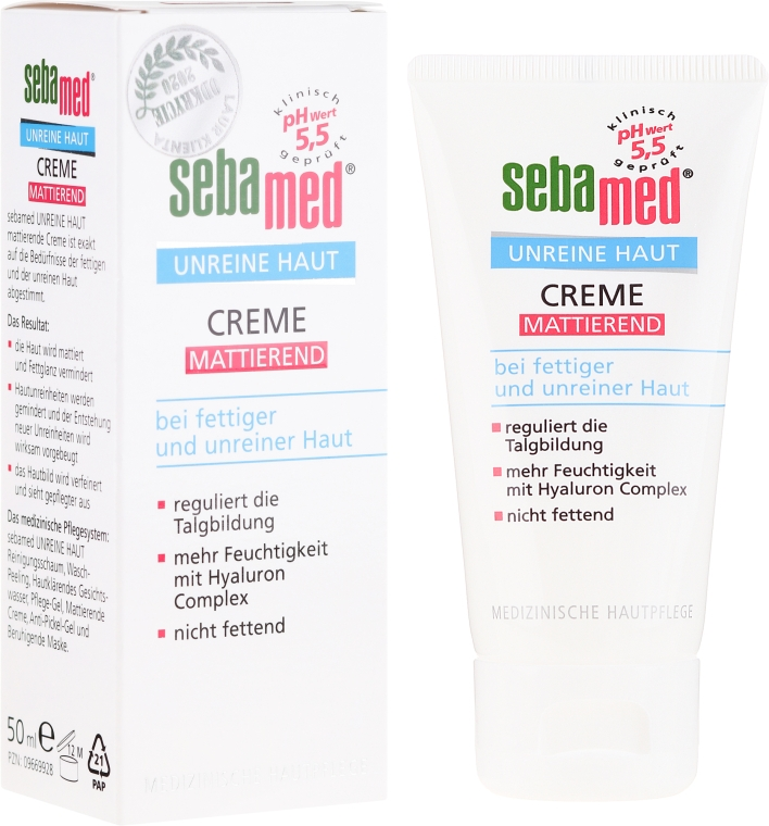 Cremă pentru ten acneic - Sebamed Clear Face Mattifying Cream — Imagine N1