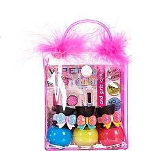 Parfumuri și produse cosmetice Set trusă cosmetică, pompoane - Tutu Peel-Off (n/polish/5mlx3 + bag) (11)