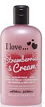 Parfumuri și produse cosmetice Spumă de duș - I Love... Strawberries & Cream Bubble Bath And Shower Creme