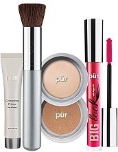 Parfumuri și produse cosmetice Set - Pur Minerals Best Sellers Starter Kit Light (primer/10ml+found/4.3g+bronzer/3.4g+mascara/5g+brush)