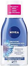 """Parfumuri și produse cosmetice Loțiune demachiantă pentru ochi """"Efect dublu"""" - Nivea Visage Double Effect Eye Make-Up Remover"""