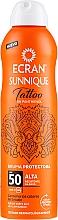 Parfumuri și produse cosmetice Spray după plajă - Ecran Sunnique Tattoo Protective Mist SPF50