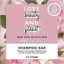 "Parfumuri și produse cosmetice Șampon solid pentru păr vopsit ""Ulei de nuci Murumuru și trandafiri"" - Love Beauty And Planet Murumuru Nut And Rose Shampoo"