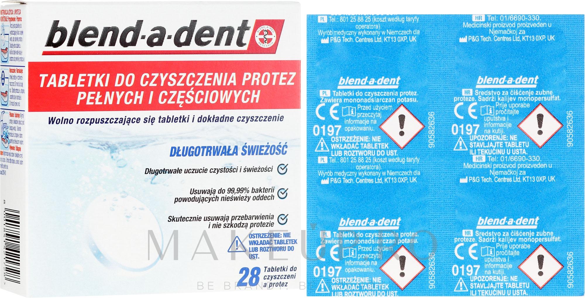 Tablete de curățare activă pentru proteze - Blend-A-Dent — Imagine 28 buc
