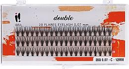 Parfumuri și produse cosmetice Gene individuale, C 12 mm - Ibra 20 Flares Eyelash Knot Free Naturals