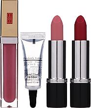Parfumuri și produse cosmetice Set - Elizabeth Arden (lip/gloss/6.5ml + lip/gloss/6ml + lipsticks/2x3.5g + bag)