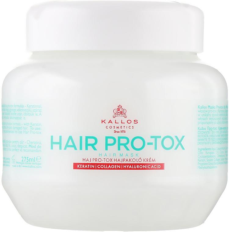 Masca de păr cu keratina, colagen și acid hialuronic - Kallos Cosmetics Pro-Tox Hair Mask