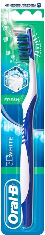 "Periuță de dinți ""Prospețime"" duritate medie 40, roșie - Oral-B 3D White Fresh — Imagine N1"