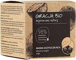Parfumuri și produse cosmetice Masca cu cărbune activ pentru față - Gracja Bio