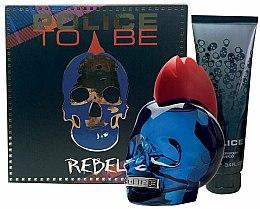 Parfumuri și produse cosmetice Police To Be Rebel - Set (edt/75ml + sh/gel/100ml)